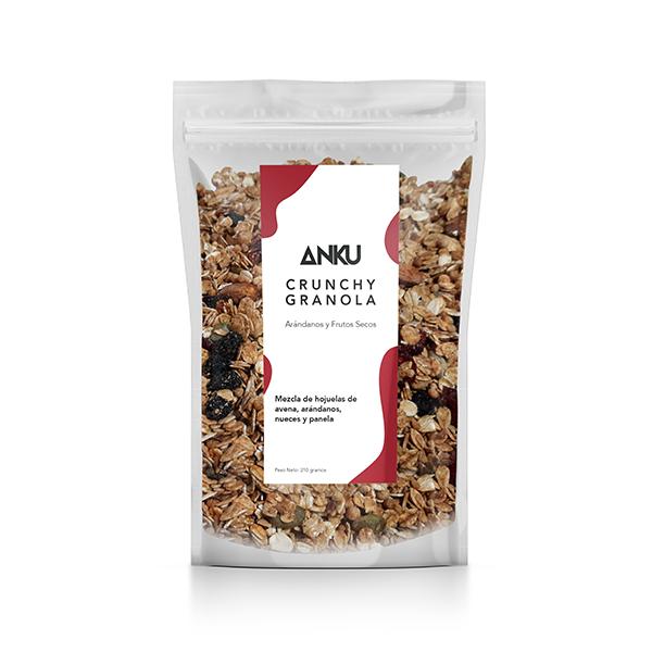 crunchy arándanos y frutos secos granola y muesli perú anku
