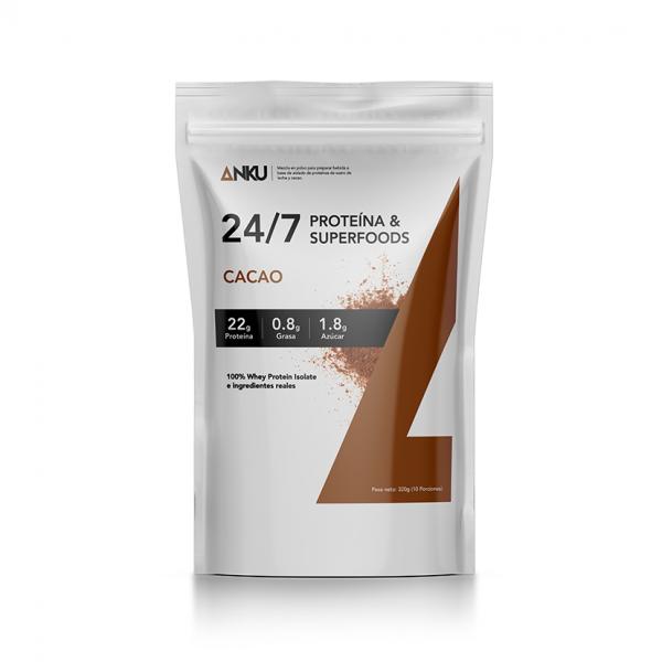 proteína iso whey 24 7 cacao perú anku