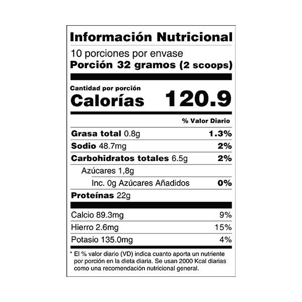 proteína iso whey 24/7 cacao tabla nutricional perú anku