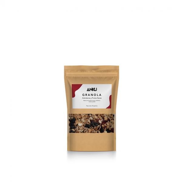crunchy arándanos y frutos secos mini granola y muesli perú anku
