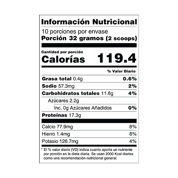 proteína iso whey 24/7 lúcuma y cacao tabla nutricional perú anku