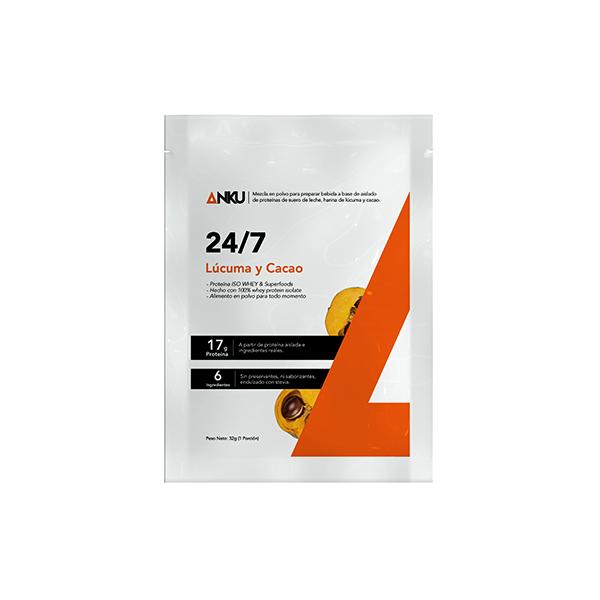 proteína iso whey 24/7 lúcuma y cacao sachetperú anku