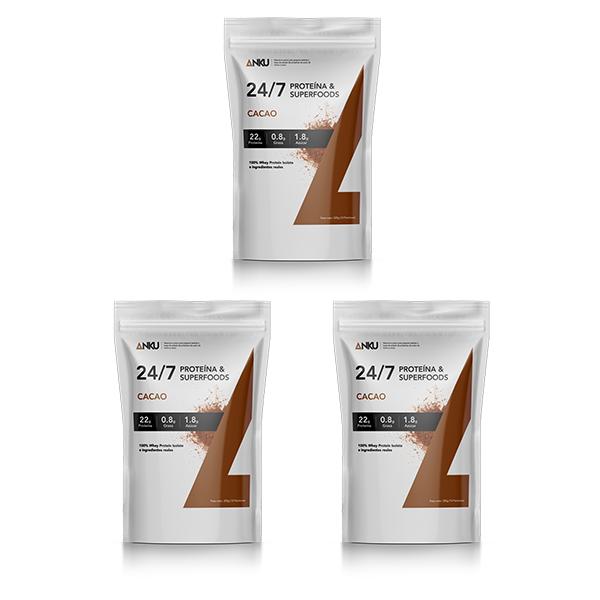 3 proteínas 24 7 Cacao