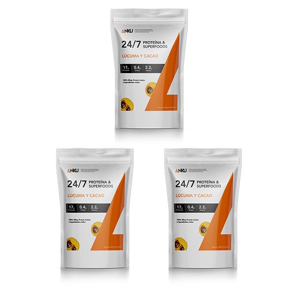 3 proteínas 24 7 lúcuma